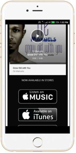 music promotion screen shot of grow old with you